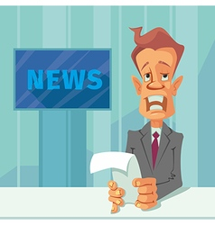 News announcer cartoon vector