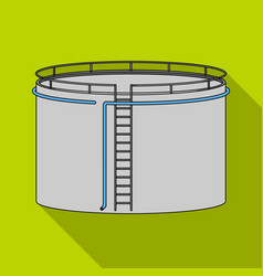 Oil storage tankoil single icon in flat style vector