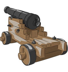 Old ship gun vector
