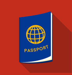 passport icon in flat style isolated on white vector image vector image