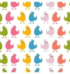 Pattern of cute birds vector image