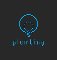 Plumbing mockup water logo creek flow from the vector image