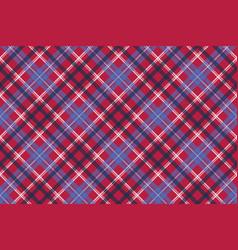 Red tartan pixel texture fabric plaid seamless vector