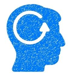 Refresh Head Memory Grainy Texture Icon vector image vector image