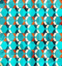 Retro geometric grunge seamless vector