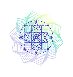 Sacred geometry alchemy symbol isolated on white vector