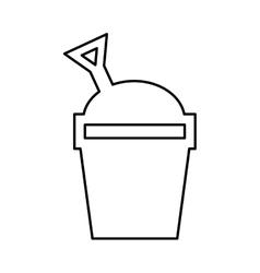 Sand bucket isolated icon design vector