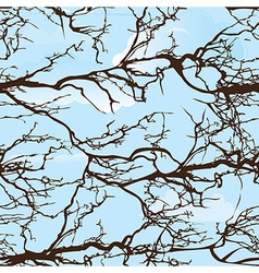 Seamless background pattern tree on cloud sky natu vector image vector image