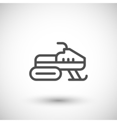 Snowmobile line icon vector