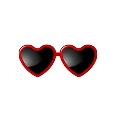 Sunglasses with Valentine heart shapes vector image vector image