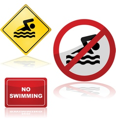 Swimming signs vector image vector image