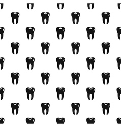 Tooth pattern simple style vector