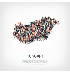 People map country hungary vector