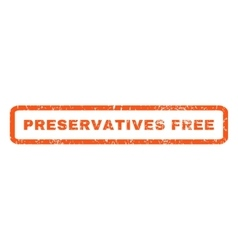 Preservatives Free Rubber Stamp vector image