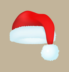 Santa claus fashion red hat modern elegance cap vector