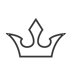 royalty crown symbol vector image