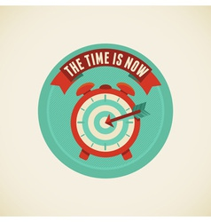 time is now vector image