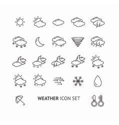 Outline weather icon black and white vector