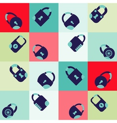 Seamless background with locks vector