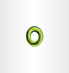 Green black letter o or number 0 zero logo icon vector