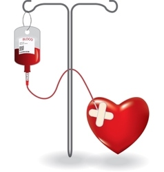 Concept of blood donation vector