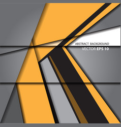 Abstract arrow yellow on gray vector