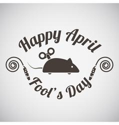 April fools day emblem vector