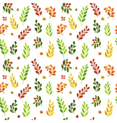 Autumn leafs pattern vector image vector image