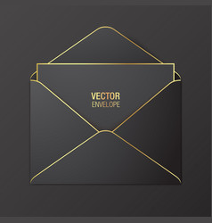 Black envelope template vector