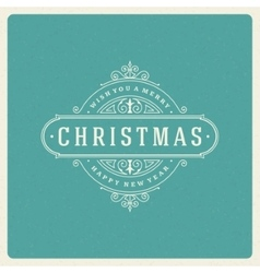 Christmas greeting card flourishes ornament vector image vector image