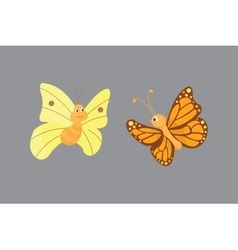 Colorful butterflies vector image vector image