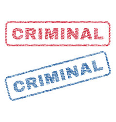 Criminal textile stamps vector