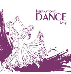 Dance day ballroom dancing standard vector