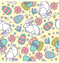 easter seamless pattern design vector image vector image