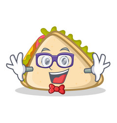 geek sandwich character cartoon style vector image vector image