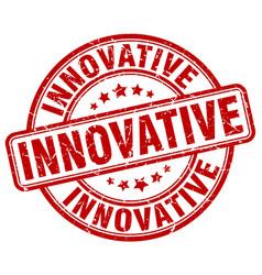 Innovative red grunge stamp vector