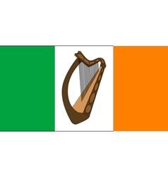Irish flag with harp vector