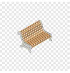 Isolated bench isometric seat element can vector