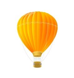 orange air ballon isolated on white vector image vector image