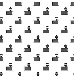 Prison tower pattern vector