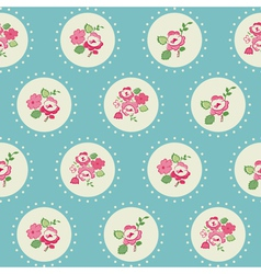Seamless Vintage Flower Background vector image vector image