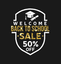 super back to school sale design vector image