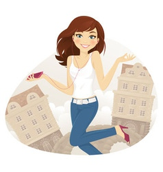 Teen girl vector image vector image