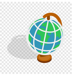 Terrestrial globe isometric icon vector
