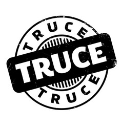 Truce rubber stamp vector