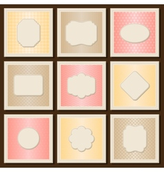 Vintage patterned cards templates set vector image vector image