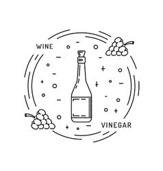 Wine vinegar sauce vector