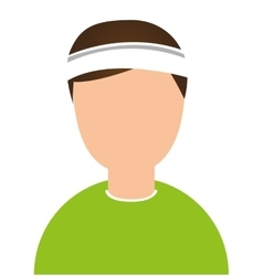 Tennis athlete avatar character vector