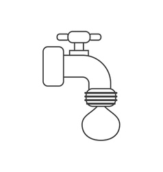 Isolated tap object with drop design vector
