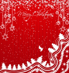 shiny and sparkling christmas background vector image